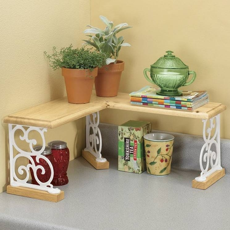 Ordinaire Kitchen Counter Corner Shelf