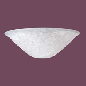"Lamp Shades White Glass Lamp Shade Frosted Daisy Flowers 12"" Dia"