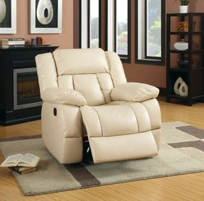 Leather glider recliner 5