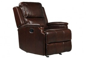Leather glider recliner 8