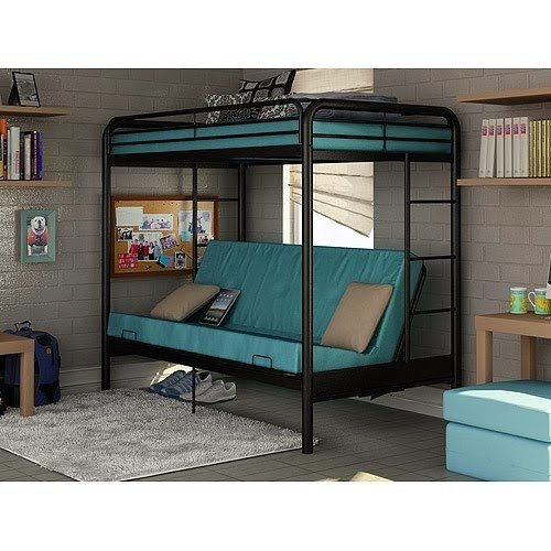 Medium image of metal cabin bed with desk