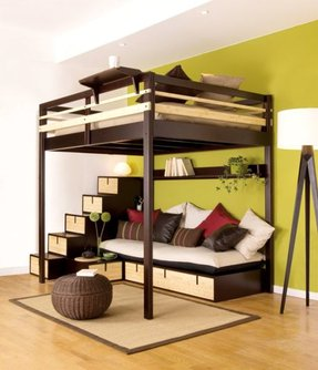 loft with bed storage beds explore foter underneath