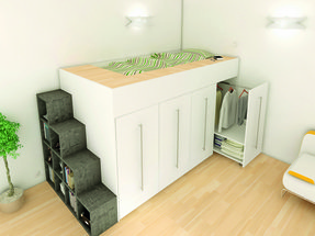 Loft bed with storage steps 4