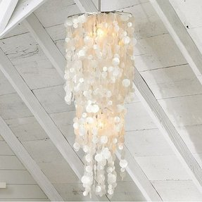 Long hanging capiz pendant lamp 3