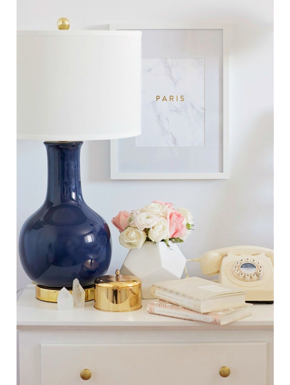 Navy Blue Table Lamp 5