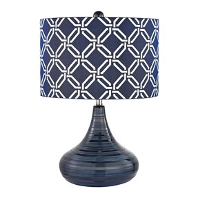 Navy blue table lamp 6