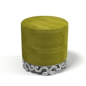 Pouf round art deco classic modern contemporary glamour art