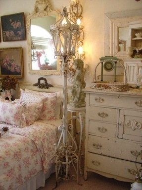 Shabby chic floor lamps foter pretty floor lamps aloadofball Images