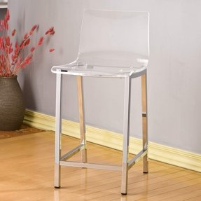 Pure decor clear acrylic counter stool set of 2 shopping