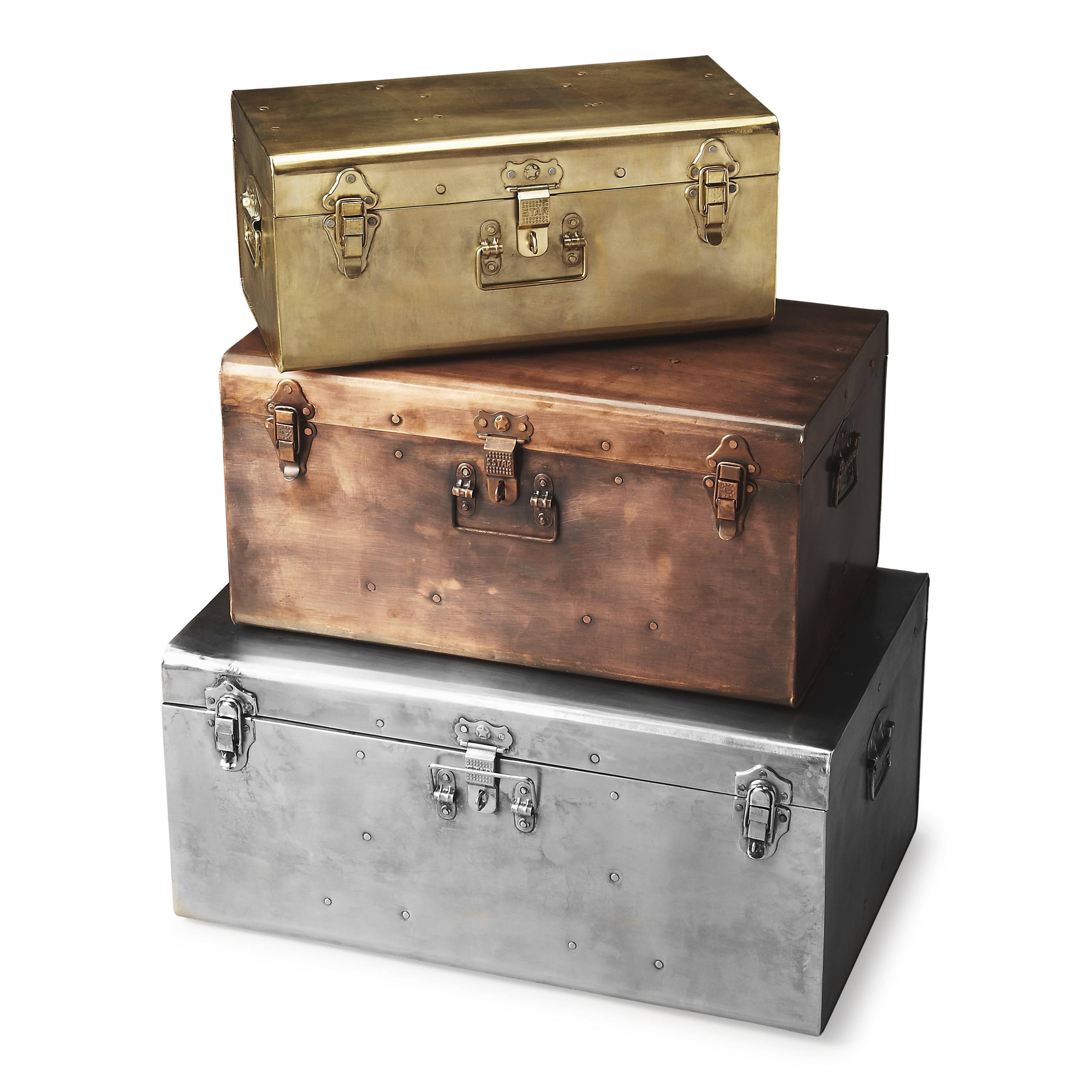 Rough luxe 3 piece esprit storage trunk set  sc 1 st  Foter & Large Decorative Storage Trunks - Foter
