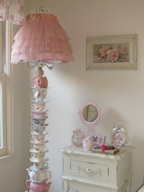 Shabby chic floor lamp 2