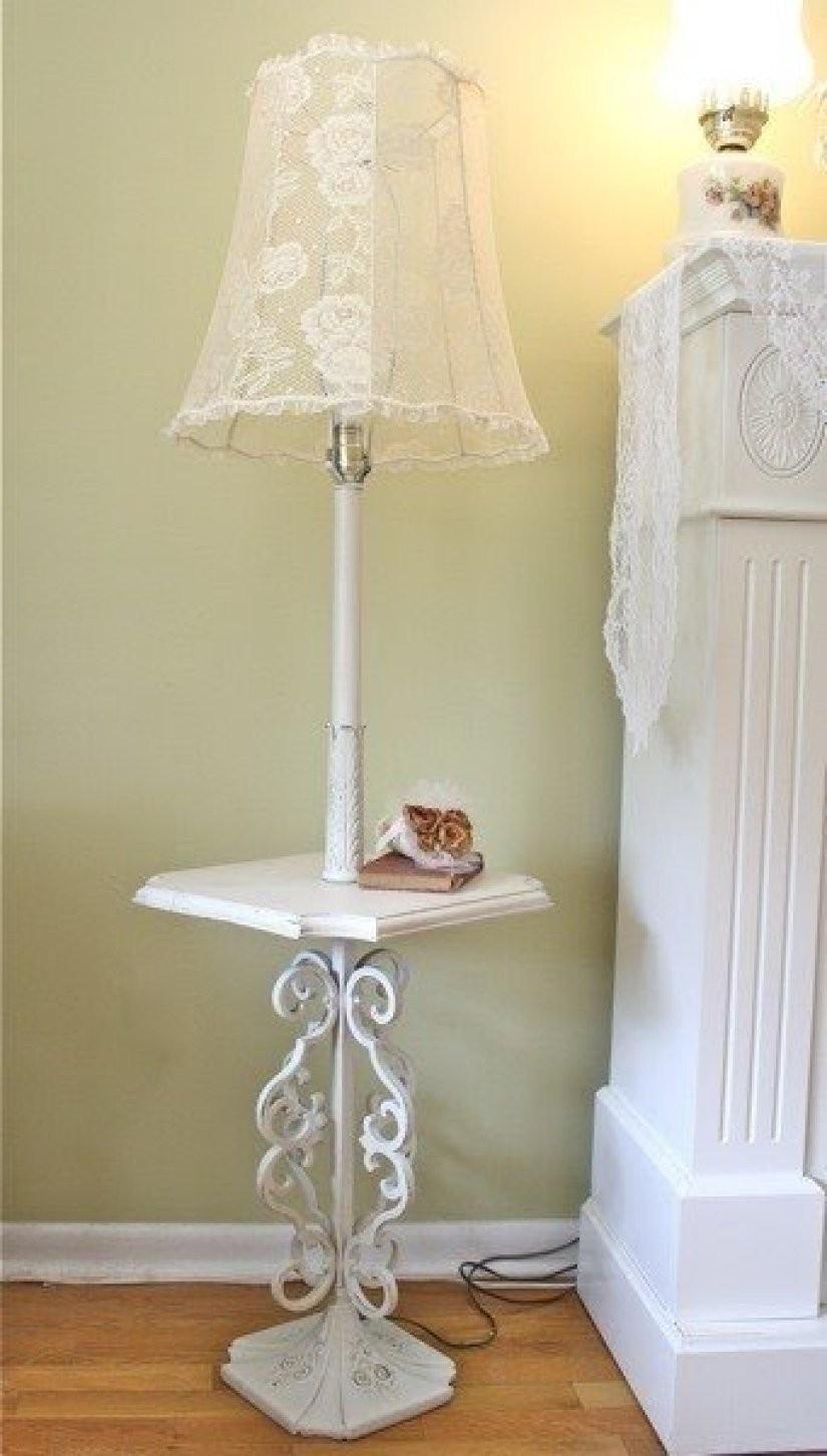 Charmant Shabby Chic Floor Lamp