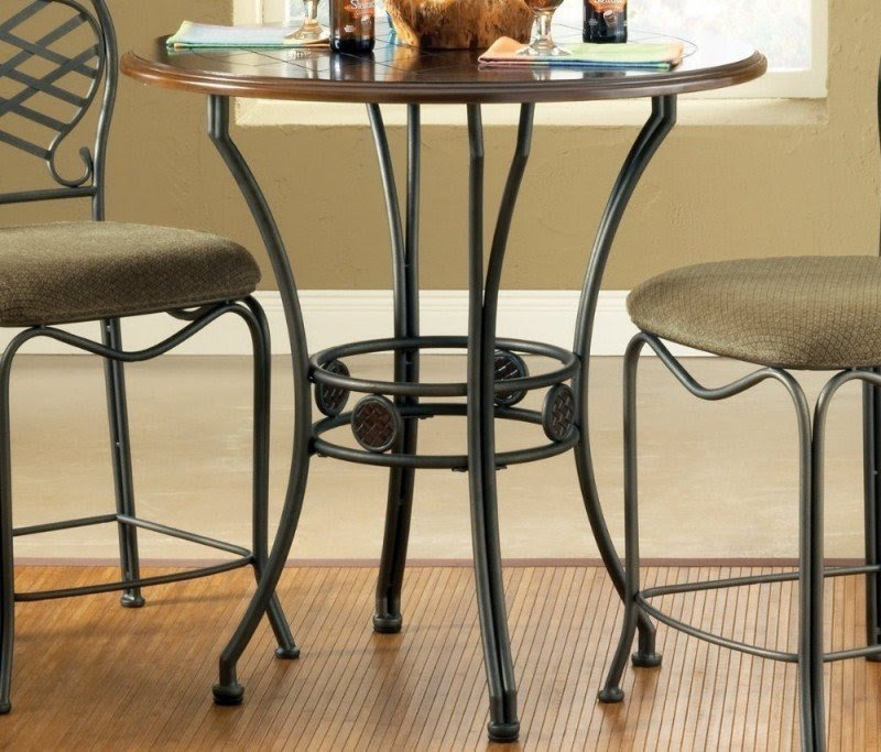 Silver Wimberly 36 Inch Round Counter Height Table On Sale
