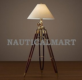 Survey tripod lamp