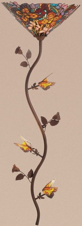 The butterfly spree stained glass tiffany style wallchiere wall lamp