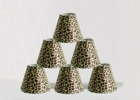 Cheetah lamp shade foter urbanest 1100332c mini chandelier lamp shades 6 inch hardback clip on leopard aloadofball Image collections