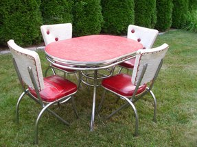Vintage 1950s kitchen table chairs