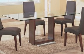 Gl Dining Table With Wood Base Ideas On Foter