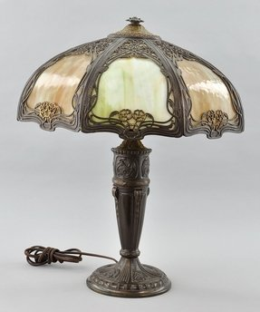 Antique Slag Glass Lamps Ideas On Foter