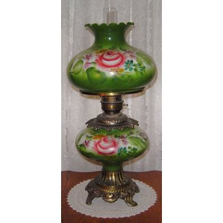 Antique Hurricane Style Gl Lamps For
