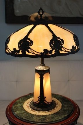 Antique Slag Glass Lamps Foter