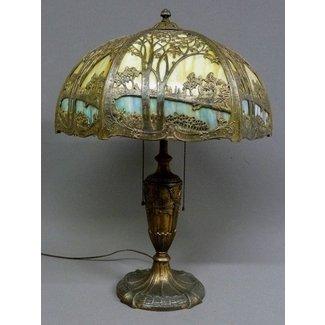 Antique Slag Glass Lamps Foter