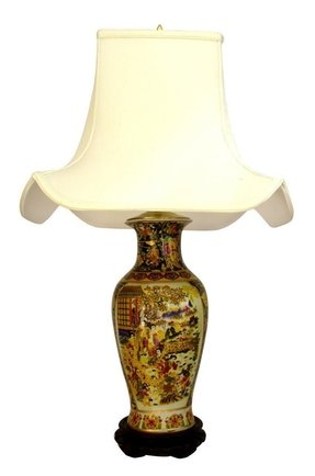 Porcelain oriental table lamp foter asian style table lamps aloadofball Choice Image