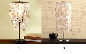 Capiz table lamps foter capiz table lamps 8 aloadofball Images