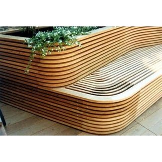 Curved garden benches 6