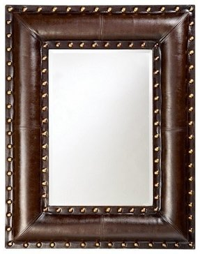 Faux leather mirror 13