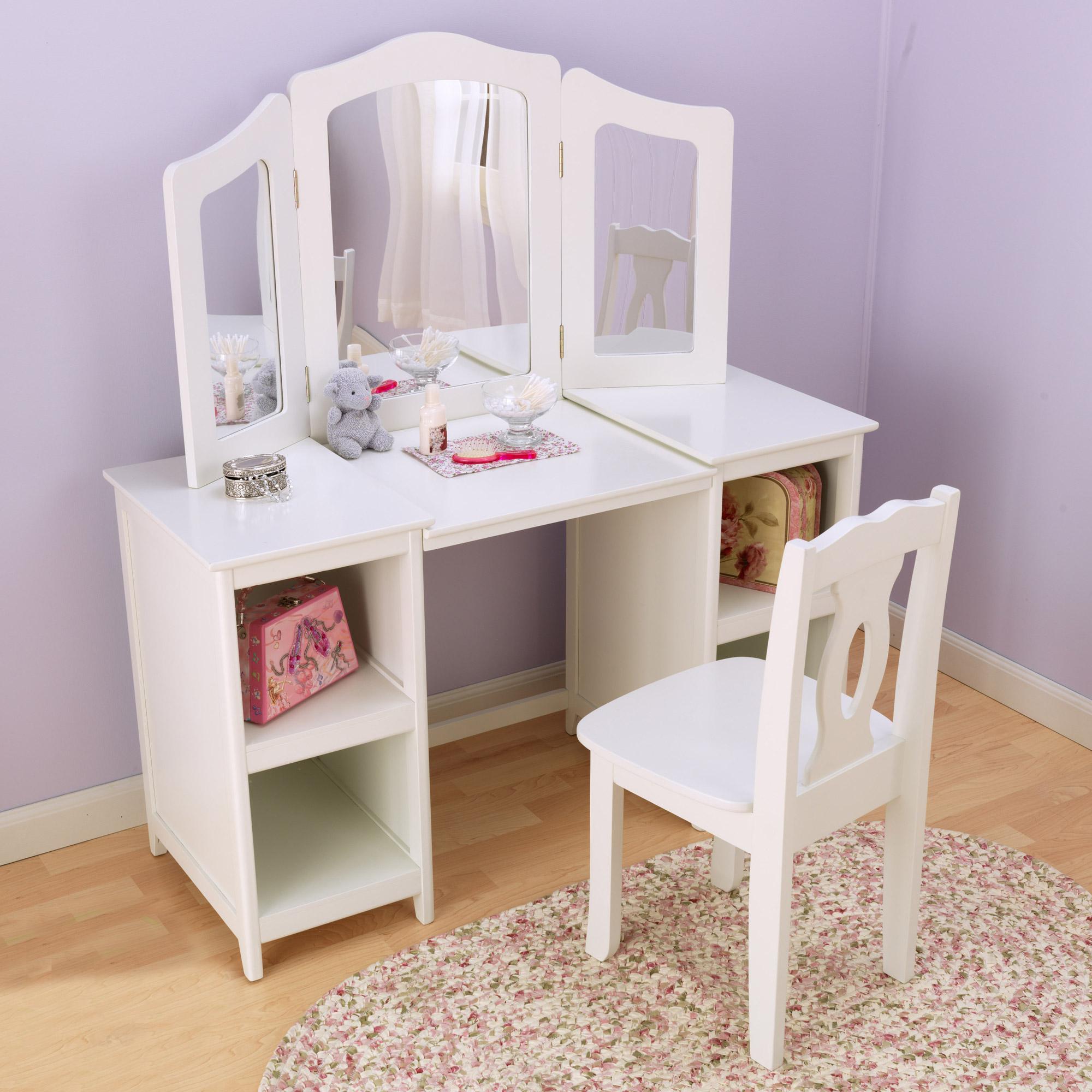 Girls Deluxe Dressing Table Set By Kidkraft