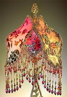 Victorian beaded lamp shades foter gothic lamp shades aloadofball Image collections