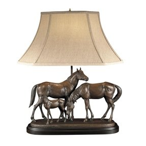 Horse family lamp with patindo shade lamps home decor