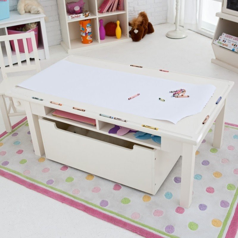 Kids Activity Table With Storage 4