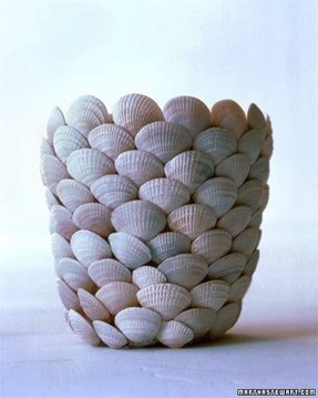 Lamps with seashells inside