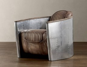 Metal leather chair 3