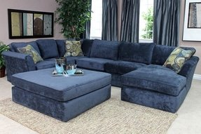 Navy blue sectional 34