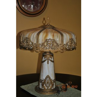 Old glass lamps