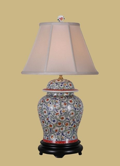 """A Chinese Antique Style Lantern 18 /"""" High white Asian style design pattern china"""