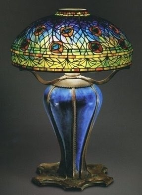 Peacock tiffany lamp 1
