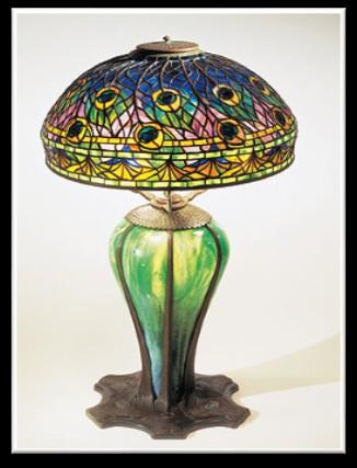 Peacock Tiffany Lamp 2