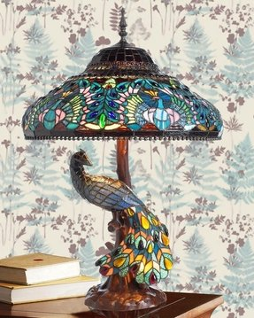 Peacock tiffany lamp 4