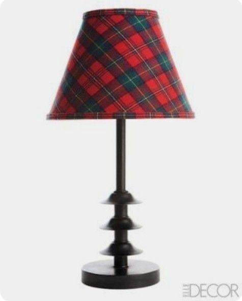 Plaid lamp shades 4