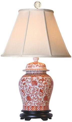 Porcelain oriental table lamp 2