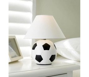 Kids football lamps foter what i particularly like about this football table lamp is that its pretty neutral in design with its white shade it could easily fit even aloadofball Choice Image