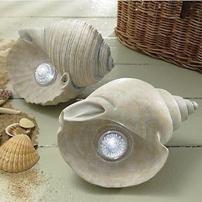 Solar seashell lights from through the country door r these