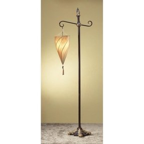 Spiral Hanging Shade Metal Stand Home Floor Lamp Light