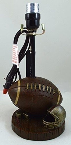 Table Lamp for Football Fans - Great Detail - Ideal for Kids Rooms, Man Caves, Rec Rooms, Dens, Etc.
