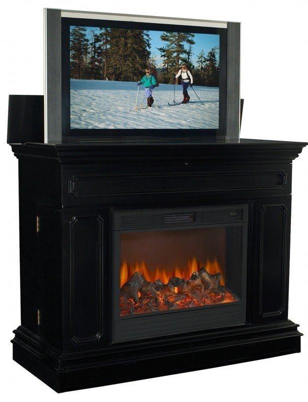 Tvliftcabinet Remington Electric Fireplace Tv Lift Description 2