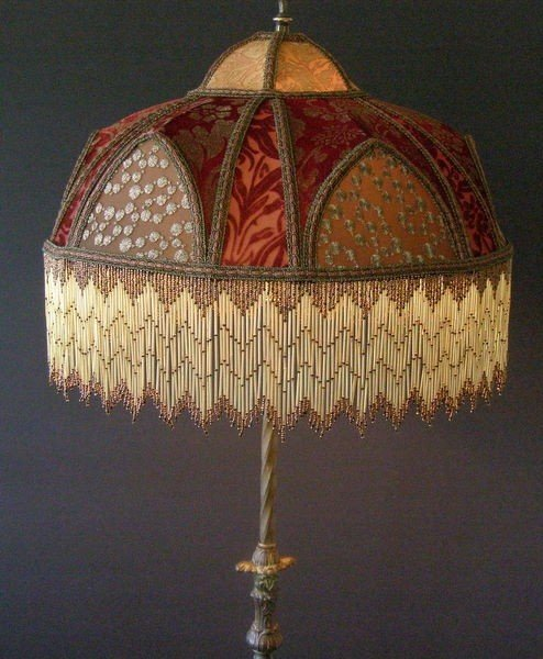 Victorian beaded lamp shades 1
